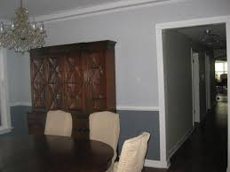 two tone walls with chair rail new decoration beautiful two