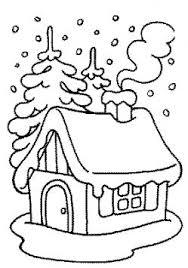 coloriage noël maisons de noël