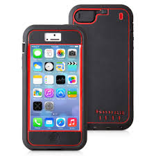 Snugg iPhone 5 Tuff Case in Black and Red available at TheSnugg
