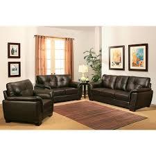 abbyson living belize 3 piece top grain leather sofa set new