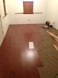 Temporary Floor Covering Over Carpet Laminate Flooring Existing Our New Retail Space Had Old