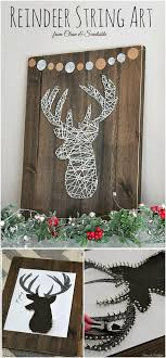 Reindeer Head String Art Adore Your Home For That Rustic Glam Touch With This Elegant