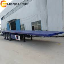 China Tri-Axle 40FT 20FT 45FT Container Transport Flat Bed Trailer ...