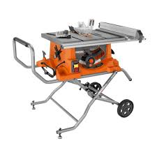 ridgid 15 10 in heavy duty portable table saw with stand
