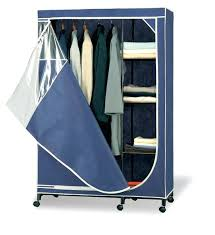 Portable Storage Closet Mounted In Behind The Door Clothes Armoire