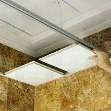 pose de plafond suspendu dalle 60 60 maison travaux