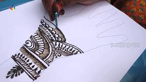 1920x1080 How To Draw A Best Indian Mehndi Design For Left Hand On Paper Art