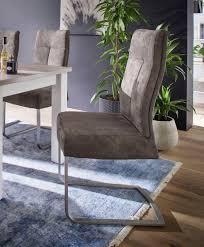 mca furniture freischwinger talena 2er set stuhl belastbar bis 120 kg