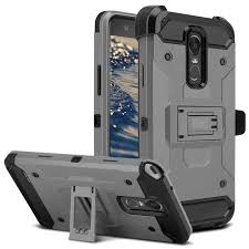 LG Stylo 3 Case Zizo Tough Armor Cover w Heavy Duty Kickstand