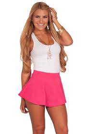 juniors soft fit n flare solid color high waisted flirty short