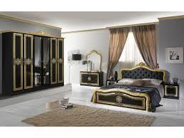 schlichter schlafzimmer set lazise 6 teilig schwarz gold