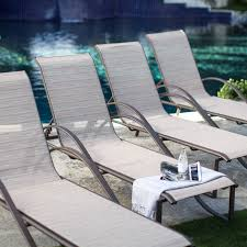 Aluminum Sling Stackable Patio Chairs by Coral Coast Eva Sling Chaise Lounges Set Of 4 Hayneedle
