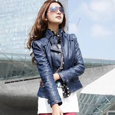 women s fashion faux leather jackets lady short outerwear stand