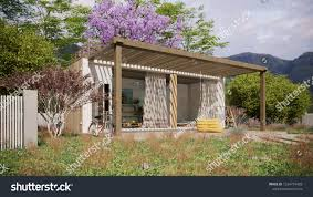 100 Shipping Container Guest House 3d Rendering House Made Stock