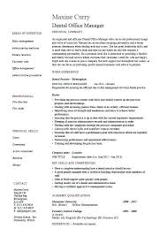 Resume Sample For Office Manager Dental Example Template Dentist Teeth Job Description