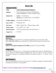 Prepossessing Resume Profile Statement Example About Examples Of With Summary In For Freshers 5551