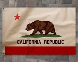 100 Cotton Vintage Style California Republic State Bear Flag Made In USA