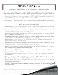 Sample Of Manager Resume Manufacturing Operations General Project Pdf