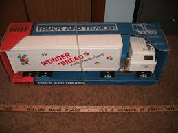 100 Wonder Bread Truck Vintage Ertl 80s Box Trailer Transporter