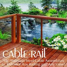 feeney cablerail stainless steel cable assembly for wood posts