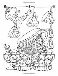 Coffee Tea Sweets Adult Coloring Book Including 30 Recipes To Go With The Pictures Color