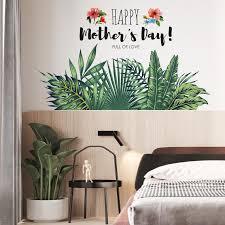 grüne pflanze englisch sub wandtattoo tropischen grünen pflanze wandaufkleber grüne landschaft wandmalereien tropischen thema wandtattoo