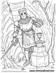 Dragon Coloring Page Underwater Reading Knight