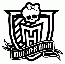 Monster High Logo Coloring Page Pages