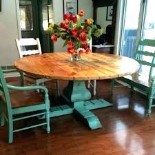 Rustic Turquoise Dining Table Farmhouse Furniture Round Country Kitchen And