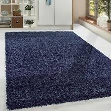 details zu shaggy hochflor langflor günstige marineblau teppiche wohnzimmer versc größen