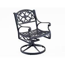 Patio Cushions Home Depot Canada by Home Styles Biscayne Black Swivel Patio Dining Chair 5554 53 The