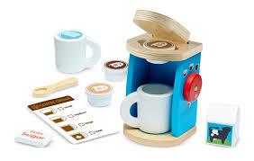 Hape Kitchen Set India by Amazon Com Melissa U0026 Doug 11 Piece Brew And Serve Wooden Coffee