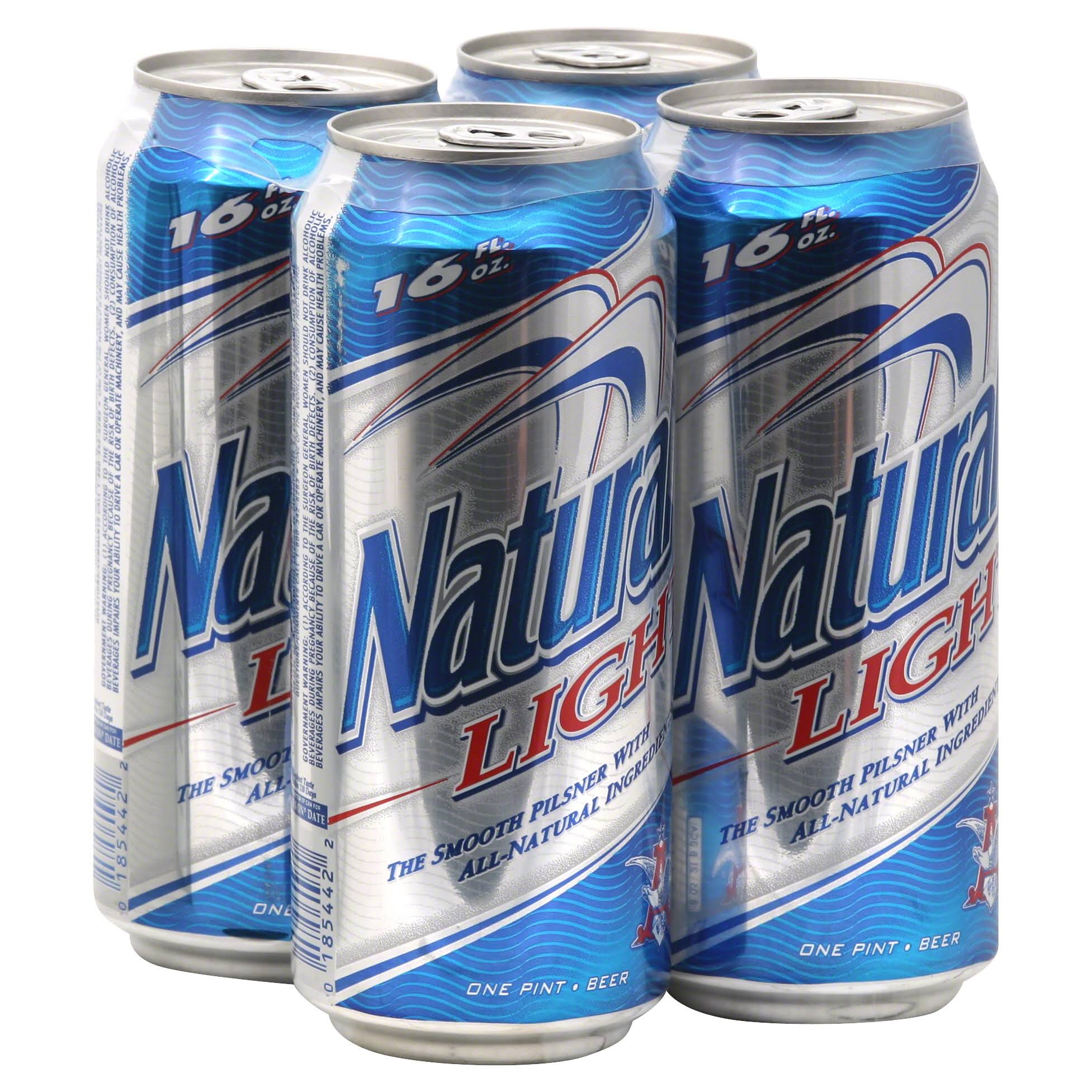 Natural Light Beer - x4, 64oz