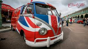 Union Jack Wrapped VW Cool Flo GB Bus