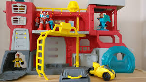 100 Rescue Bots Fire Truck Playskool Rescue Bots Fire Station