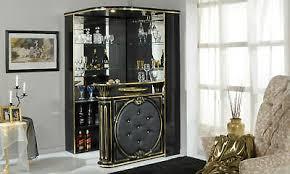 bar eckbar wohnzimmer hausbar theke schwarz hochglanz klassisch italienisch ebay