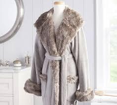 Faux Fur Robe Chinchilla