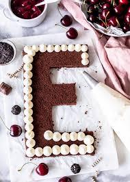 schwarzwälder kirsch letter cake