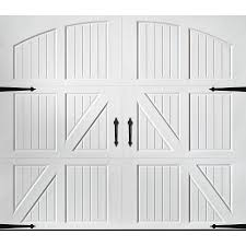 Shop Pella Carriage House 96 in x 84 in White Single Garage Door