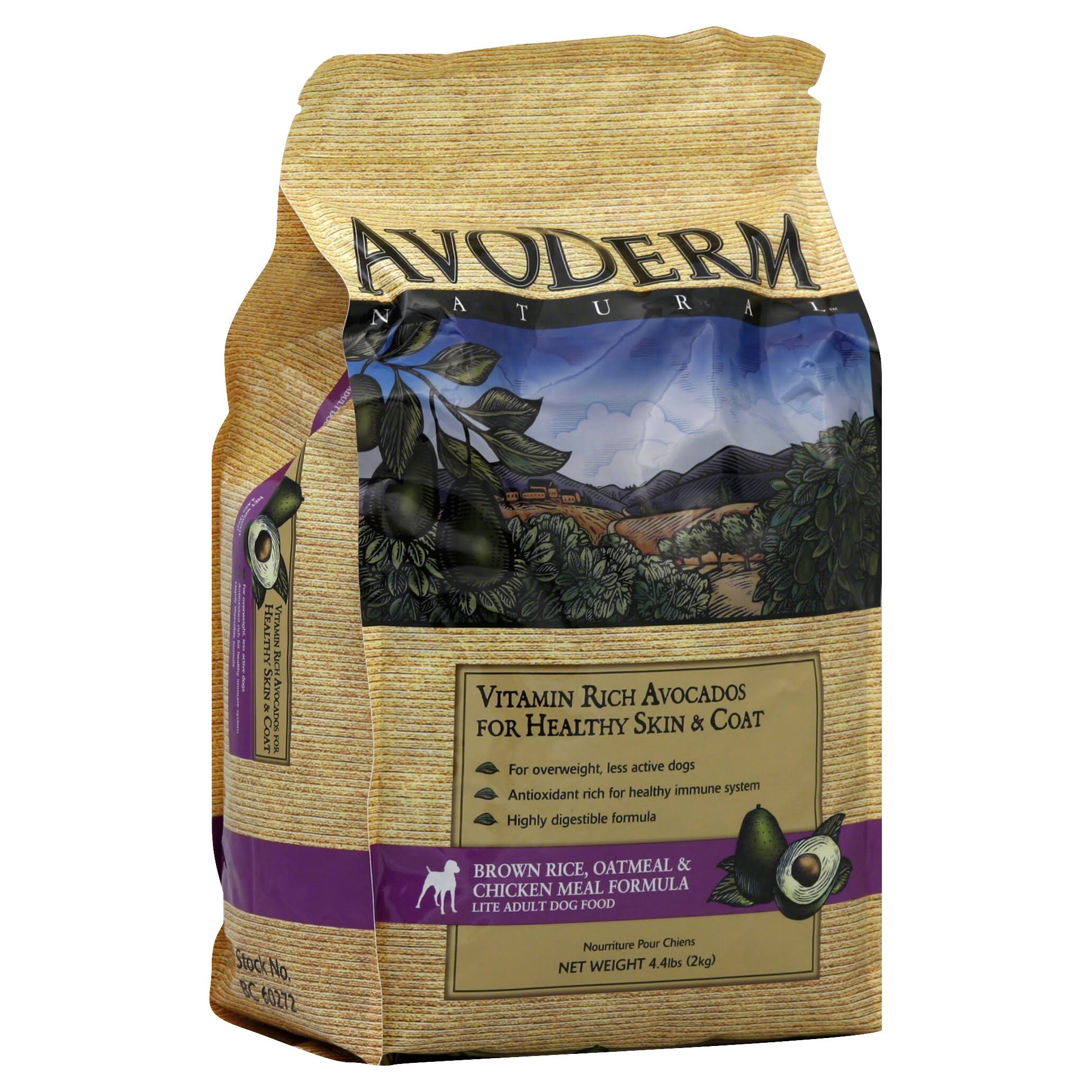 AvoDerm Natural Dog Food - Chicken Meal and Brown Rice, 4lb