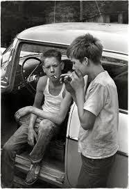 leatherwood kentucky circa 1964 cornett boys smoking by car