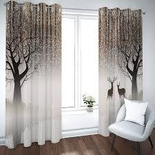 vorhänge gardinen vorhang fenster blickdicht mit ösenhirsche
