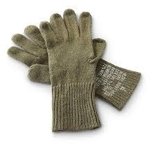 4 prs of new u s military surplus glove liners olive drab