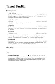 Cnc Machinist Resume Example