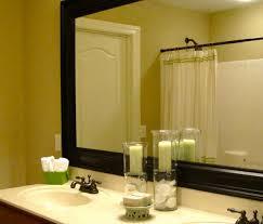 Double Vanity Bathroom Mirror Ideas by Bathroom Mirror Ideas Double Vanity Double L Shaped Brown Finish