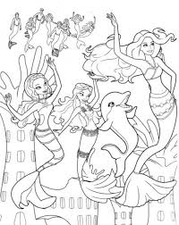 Girls Coloring Pages Barbie Mermaid