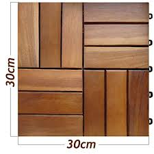 30 pcs acacia wood garden and patio deck tile 30x30 cm 2 7 m皺