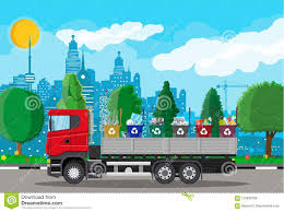 100 Waste Management Garbage Truck For Transportation Stock Vector Illustration Of