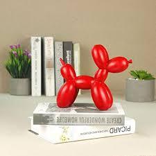 skulpturen wohnzimmer modern llons hund statue tier kunst