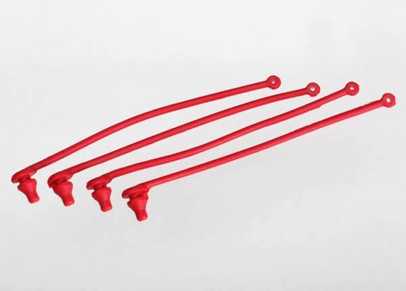 Traxxas Body Clip Retainer - Red, 4pcs